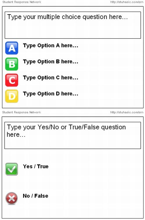 multiple choice template word